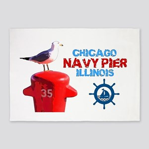 NAVY PIER-CHICAGO-1 5'x7'Area Rug