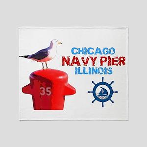 NAVY PIER-CHICAGO-1 Throw Blanket
