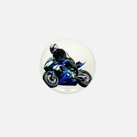 Sports Bike Mini Button