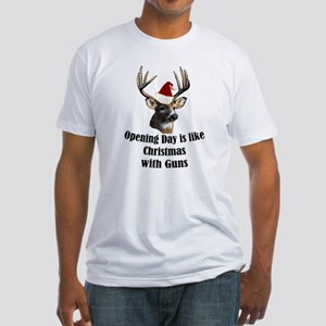 Opening day is like christmas Fitted T-Shirt