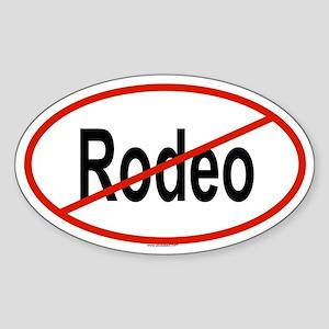 RODEO Oval Sticker