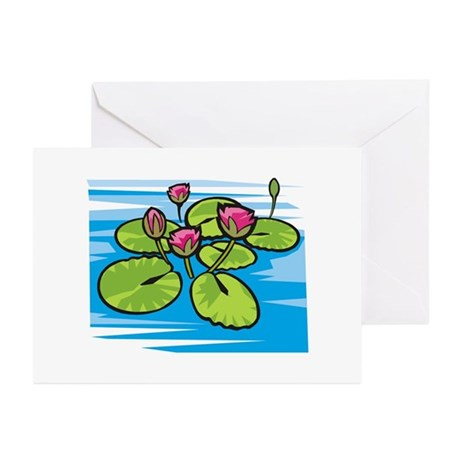 Lily Pad Pond Greeting Cards (Pk of 10)