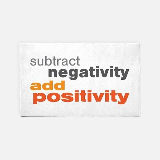 Subtract Negativity Add Positivity 3'x5' Area Rug