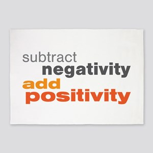 Subtract Negativity Add Positivity 5'x7'Area Rug