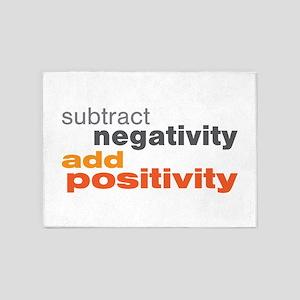Subtract Negativity Add Positivity 5'x7'Area Rug