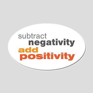 Subtract Negativity Add Positivity 20x12 Oval Wall