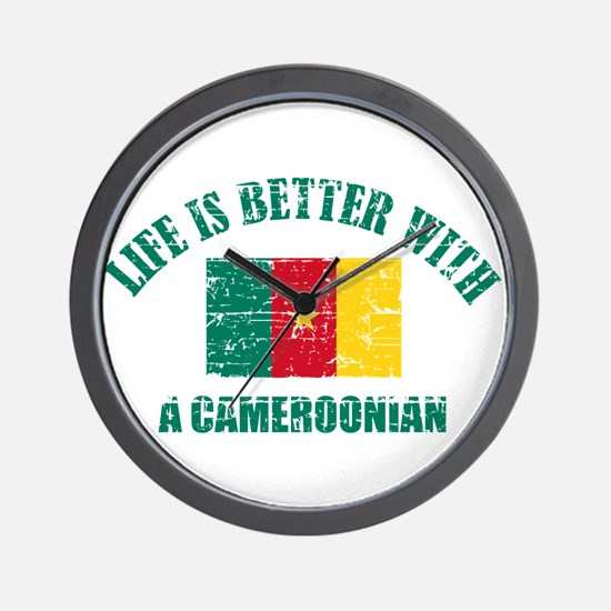 Life is better with a Cameroonian Wall Clock