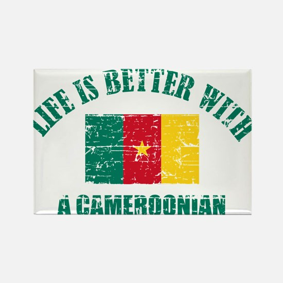 Life is better with a Cameroonian Rectangle Magnet