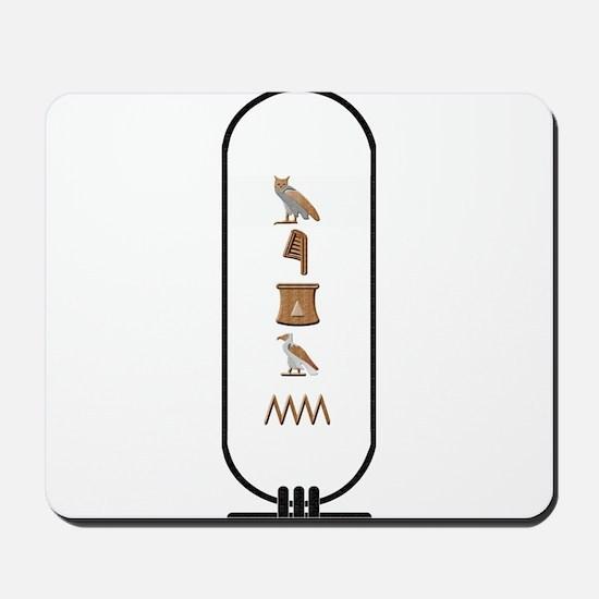 """Megan in Hieroglyphics """"Color Mousepad"""