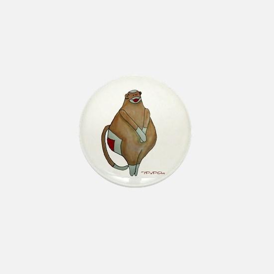 Fat Sock Monkey Mini Button