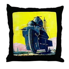 Electro-Gyro Cruiser Throw Pillow