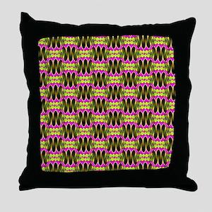 Funky Tribal Bubblegum Throw Pillow