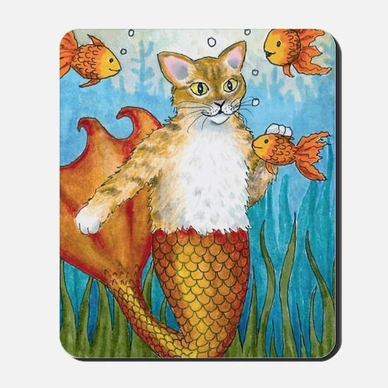 Cat Mermaid 27 Mousepad