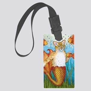 Cat Mermaid 27 Large Luggage Tag