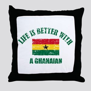 Life is better with a Ghanaian Throw Pillow