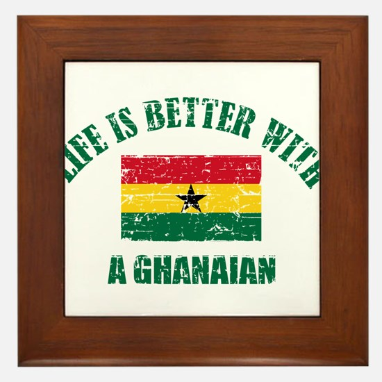 Life is better with a Ghanaian Framed Tile