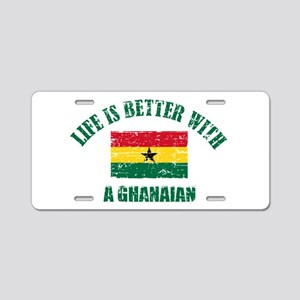 Life is better with a Ghanaian Aluminum License Pl