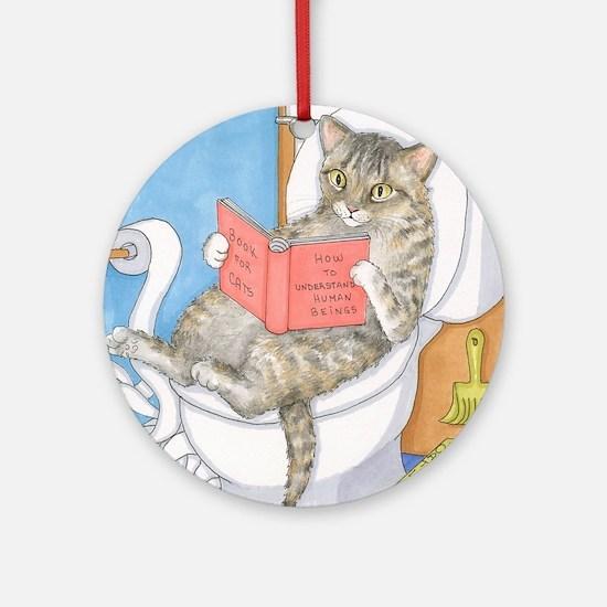 Cat 535 Round Ornament