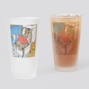 Cat 535 Drinking Glass