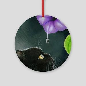 Cat 514 Round Ornament
