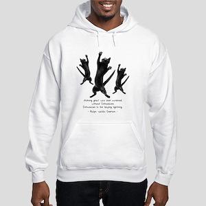 Enthusiastic Cats Hooded Sweatshirt