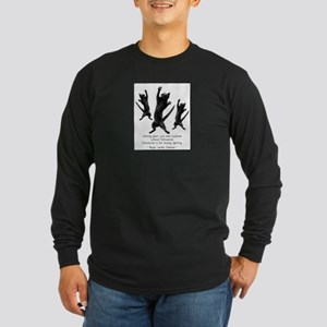 Enthusiastic Cats Long Sleeve Dark T-Shirt