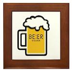Beer O Clock Framed Tile