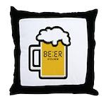 Beer O Clock Throw Pillow