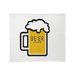 Beer O Clock Throw Blanket