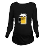 Beer O Clock Long Sleeve Maternity T-Shirt