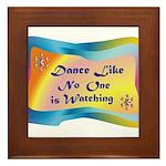 dance LIKE....png Framed Tile