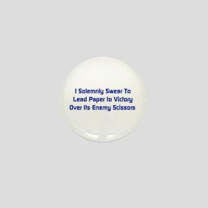 Rock Paper Scissors Mini Button
