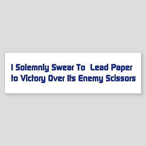 Rock Paper Scissors Bumper Sticker