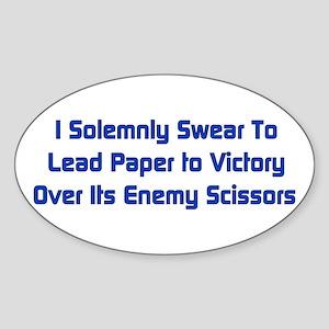 Rock Paper Scissors Oval Sticker