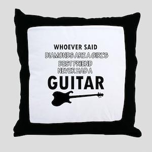 Electric Guitar better than Diamonds Throw Pillow
