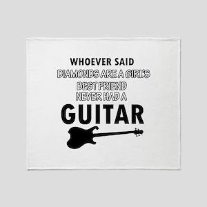 Electric Guitar better than Diamonds Throw Blanket