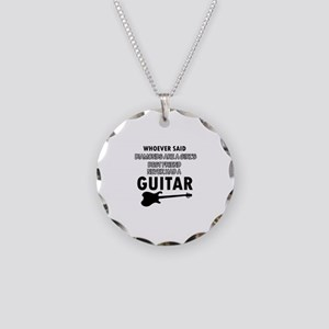 Electric Guitar better than Diamonds Necklace Circ
