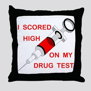 DRUG TEST Throw Pillow