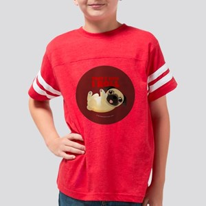 Pug-Thats How I Roll-pin Youth Football Shirt
