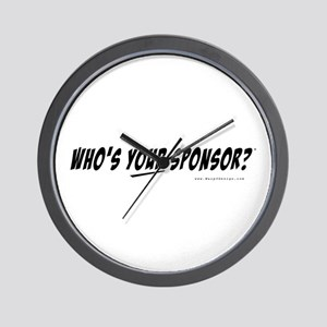 Who is your Sponsor? - Wall Clock