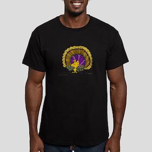 Woodstock Turkey Men's Fitted T-Shirt (dark)