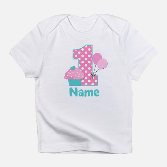 1st Birthday Cupcake Pink Blue Infant T-Shirt