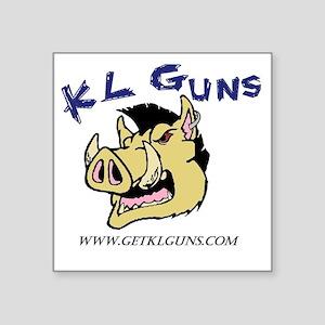 """Full Color KL Guns Logo wit Square Sticker 3"""" x 3"""""""