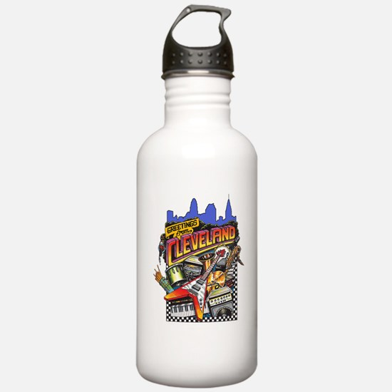ClevelandFromGreetings1.png Water Bottle