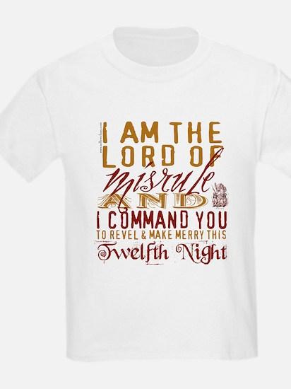 Lord of Misrule/Twelfth Night Kids T-Shirt