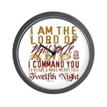 Lord of Misrule/Twelfth Night Wall Clock