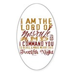 Lord of Misrule/Twelfth Night Oval Sticker