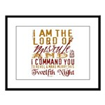 Lord of Misrule/Twelfth Night Large Framed Print