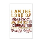 Lord of Misrule/Twelfth Night Mini Poster Print
