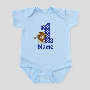 1st Birthday Lion Blue Body Suit